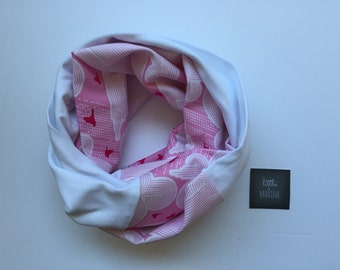 Infinity scarf woman - pink cloud fabric