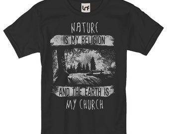 Nature Is My Religion Men's T-Shirt (SB927)