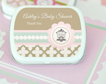 Birdcage Party Personalized Mint Tins, (Set of 24)