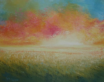 Oil Painting Landscape Rustic Midwest Painting by Faith Patterson