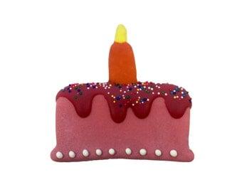 Gourmet Dog Bakery - Pink Homemade Happy Birthday Cake Dog Cookie