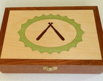 Bobbin lace wooden box