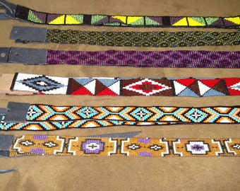 In stock custom hand beaded western hatbands ready to ship now