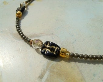 Theatre natural pyrite ball necklace