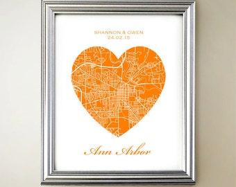 Ann Arbor Heart Map