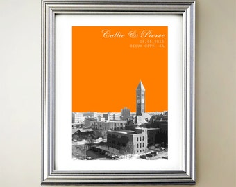 Sioux City Personalized Cityscape