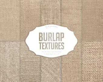 "Burlap Digital Paper: ""Burlap Textures"" with digital burlap textures and digital burlap backgrounds in neutral colors"