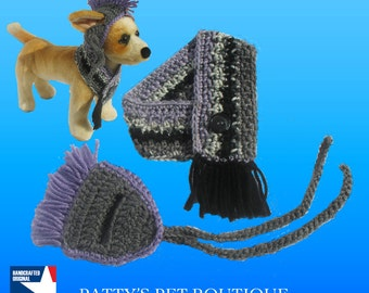 Dog Hat & Scarf Set—Crocheted