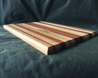 Handmade Oak & Mahogany cheese board, cutting board, platter Large