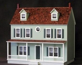 The Lancaster Unfinished Dollhouse Kit