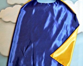 Cape. Plain Cape. Reversible Cape. Blue and Yellow Cape. Kids Cape.