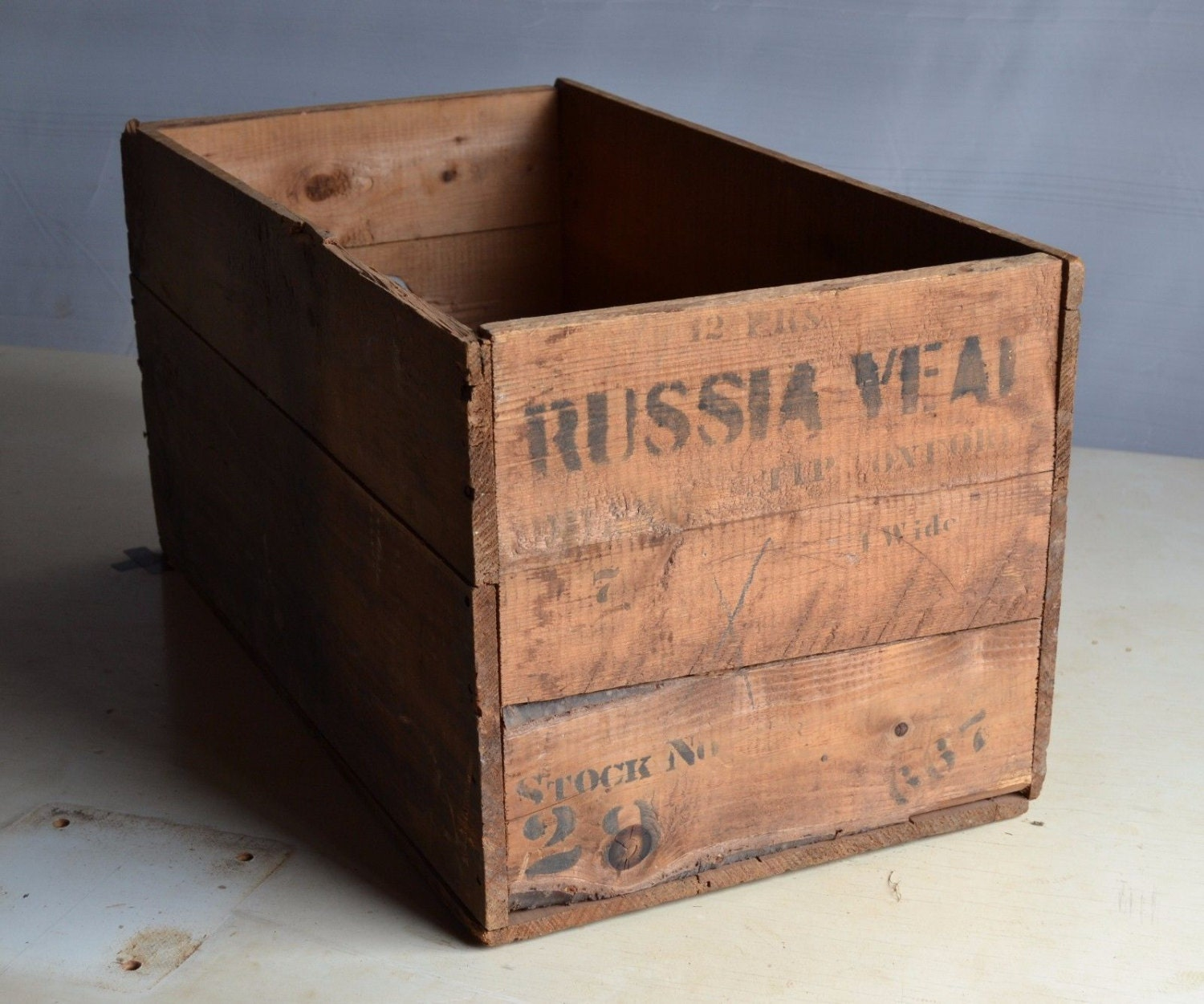 Antique Wood Advertising Shoe Crate Coffee Table Box Storage Ny Russia Decor Fad Haute Juice