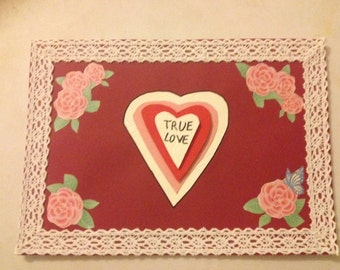 Extra Large Valentines True Love Card