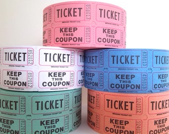 Tickets ~ Ideal for Wedding, Raffle, Party, Carnival, Fair, Coats ~ Candy Bar Tokens ~ 50 Double Tickets ~ Vintage Style