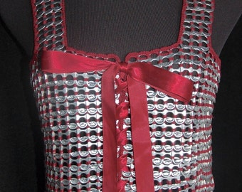 HOLIDAY SALE 60% OFF!!! Trashion - Aluminum Can Pull Tab Tank Top