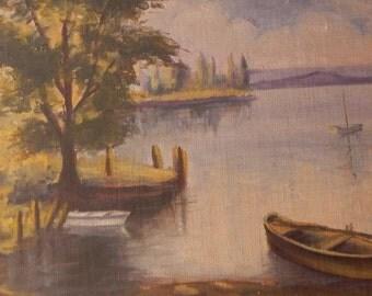 Vintage Landscape Oil Painting!