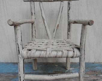 Rustic Miniature Twig Chair!
