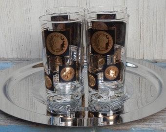 Set of 4 Retro Barware Glasses!