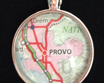 "Provo Utah pendant with 24"" chain"