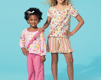 McCall's Sewing Pattern M7278 Children's/Girls' Ruffled Tops, Dress, Shorts and Pants