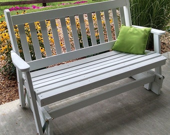 Yellow Pine Traditional English 6ft. Porch Glider