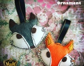 Fox Ornament Handmade Felt Nursery Baby Mobile Accessories Plush Christmas Holiday