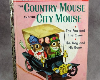 "1961 1st Edition Country Mouse and City Mouse Little Golden Book ""A"" Edition Richard Scarry"
