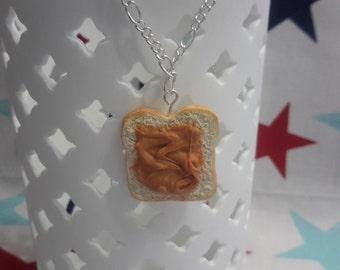 Peanut Butter Toast Necklace