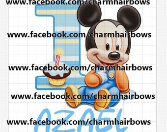 baby mickey digital file iron on