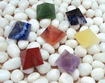 7 Charged Crystal Healing Chakra Stone set