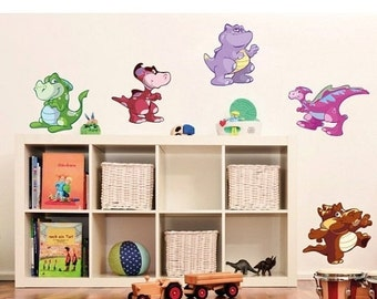 25% SALE - FREE SHIPPING Baby Dino Set nursery wall decal, deco, sticker, mural, vinyl wall art