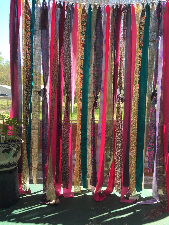 Gypsy Curtain 6 Drop Boho Hippie Curtain Gypsy