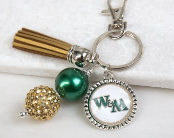 William and Mary Key Chain, William and Mary Tribe, William and Mary Griffins, Green and Gold, College Key Chains, Game Day, Graduation Gift