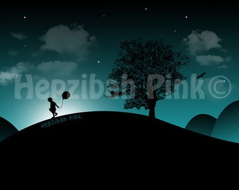 A3 'Boy With Balloon' | Glossy Print | (420mm x 297mm)