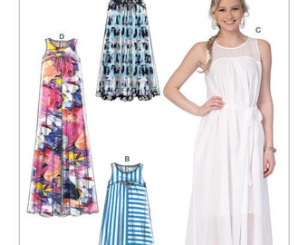 McCall's Pattern M7404  Misses' Dresses with Yokes, and Belt