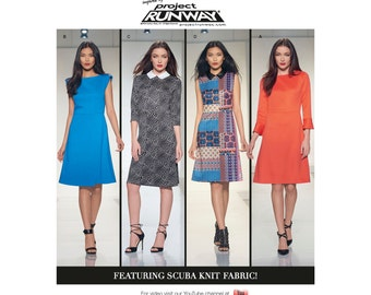 Simplicity Pattern  8213 Misses' Knit Dress with Bodice Variations