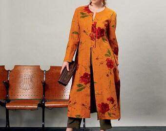 Vogue Pattern V1356 Misses' Duster and Pants