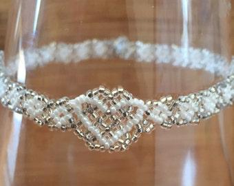 White Heart Bracelet