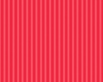 Gumdrops and Lollipops Mini Stripe Red - Quilting Treasures - Cotton fabric - Choose your cut