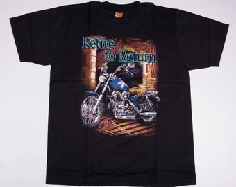 Vintage Motorcycle 'Retire to Return' 90s Tshirt