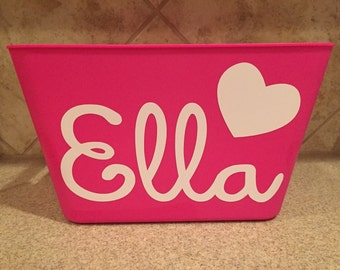 Personalized Valentine/Easter Bucket