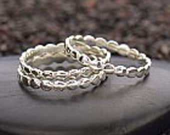 Sterling Silver Circle Stacking Ring