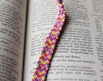 Summer Friendship Bracelet, Chevron Bracelet, Pink Friendship Bracelet, Purple Friendship Bracelet, Beach Friendship Bracelet, Chevron