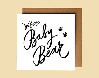 Welcome Baby Bear! greeting card