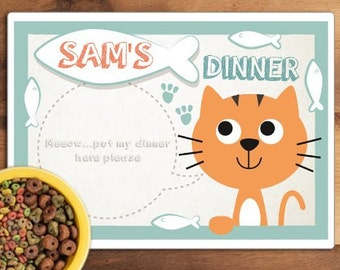 Personalised Pet Place Mat - Specify Name and Colours!