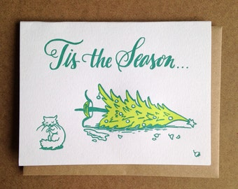 Tis The Season Christmas Greeting Card