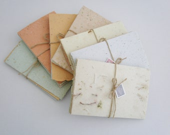 Letter-grams Handmade Writing Paper. Handmade Recycled Paper with Botanicals, old fashioned