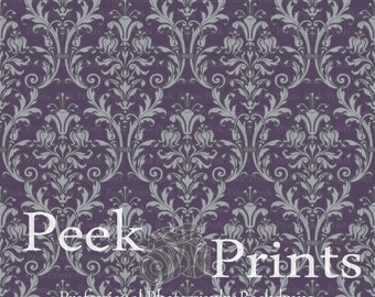 4ftx4ft Lady Fair Purple Damask Vinyl Photography Backdrop