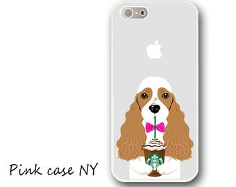 iPhone 7/7plus case, iPhone 6/6S/6plus/6Splus case, iPhone 5/5S/5C/SE case, iPhone 4/4S case - American Cocker Spaniel - Brown and White