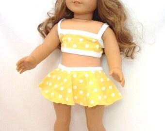 Yellow Polka Dot Bikini for a dolly